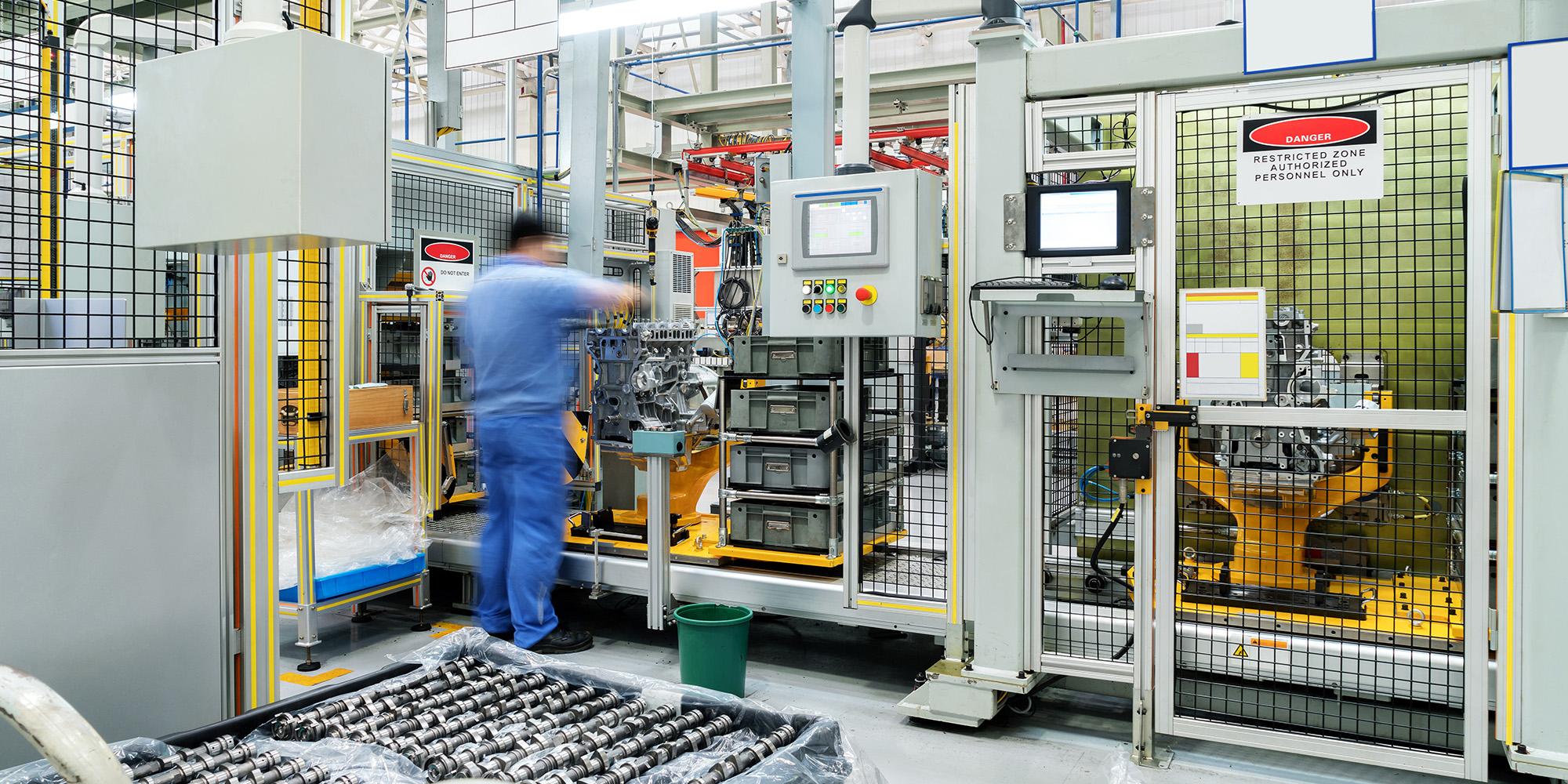 Worker in industrial setting