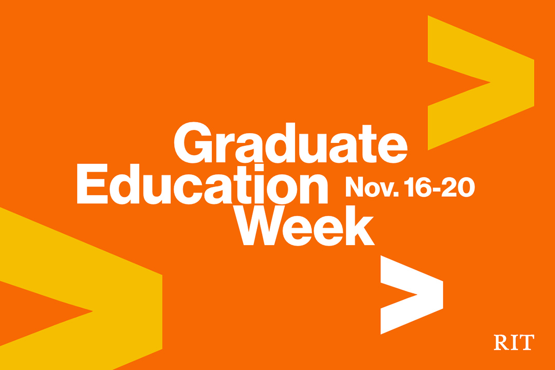RIT celebrates graduate student research with weeklong virtual symposium Nov. 16-20