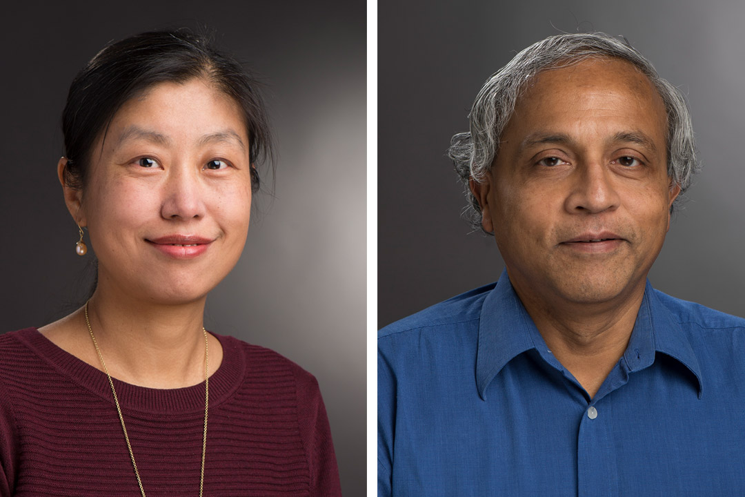 faculty members Rajendra Raj and Xumin Liu.
