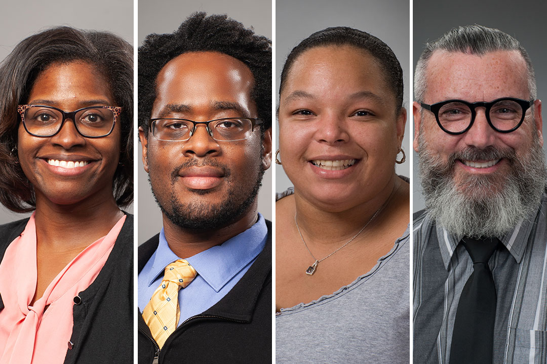 headshots of four faculty members.