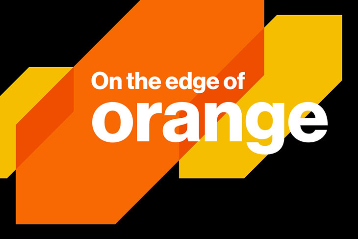 graphic reads: On the edge of orange.
