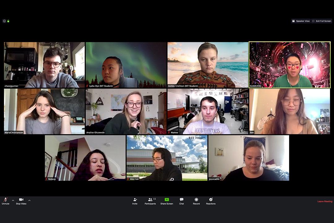 screenshot of 11 people in a Zoom virtual meeting.