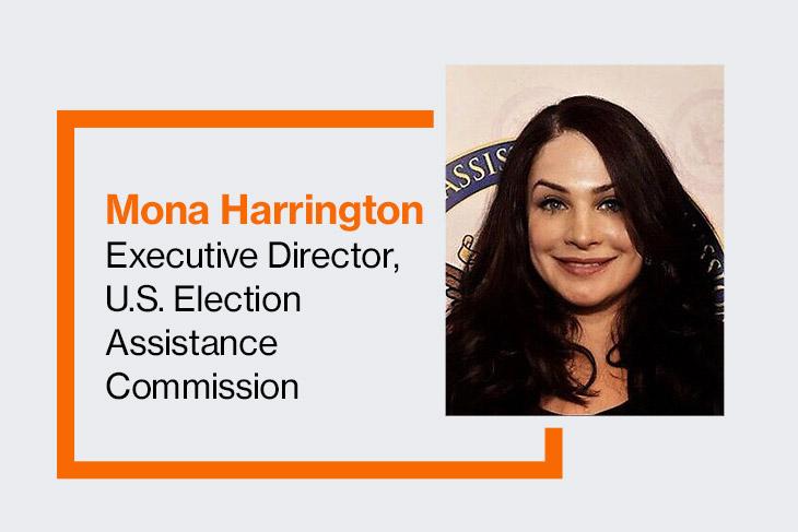 Mona Harrington, executive directos, U.S. Election Assistance Commission.