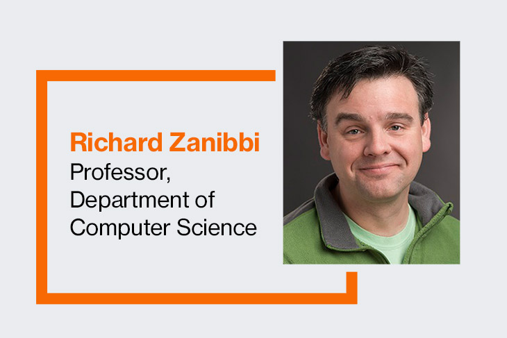 Richard Zanibbi, professor in the Department of Computer Science.