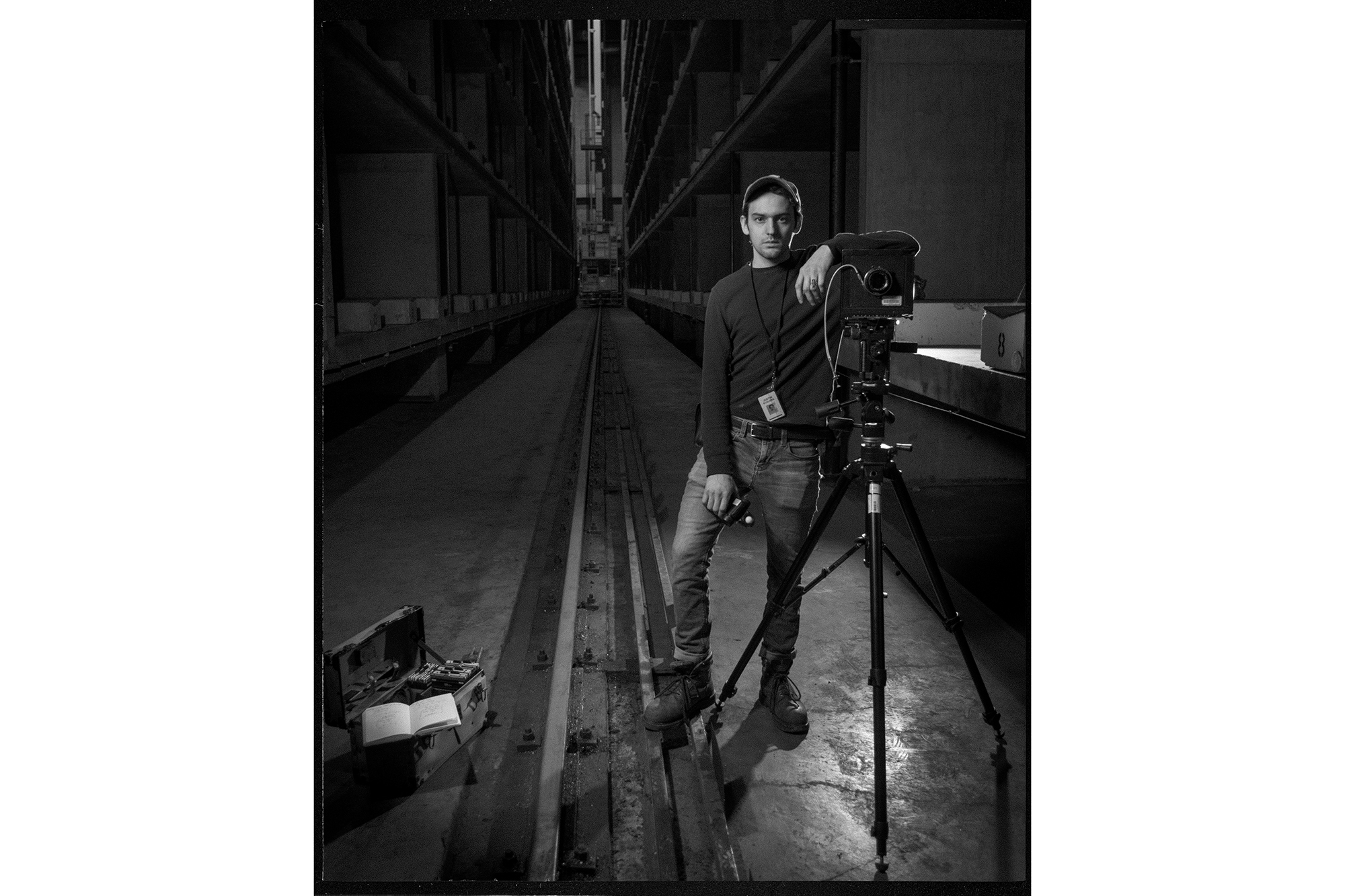 Justin Scalera inside Kodak Park
