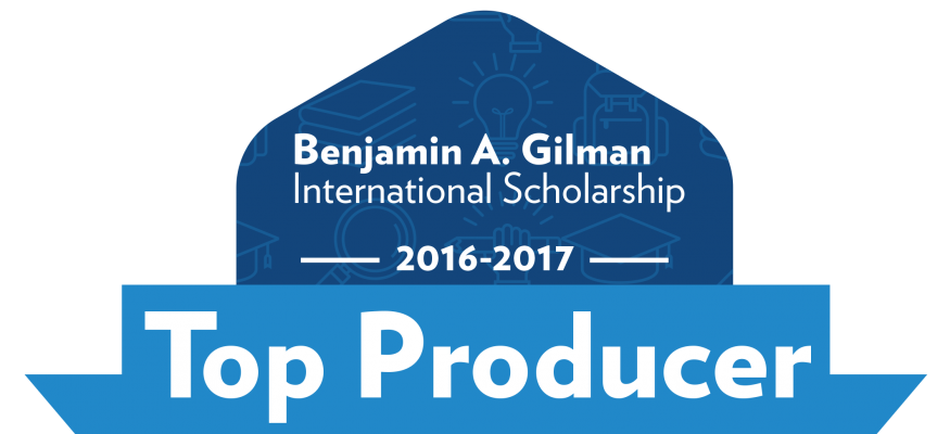 RIT Announced as a Gilman Top Producing Institution for 2016 - 2017