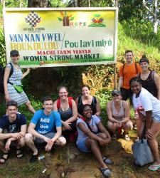 Student teams work with women's group in Haiti