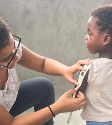 Students study anemia in Ghana