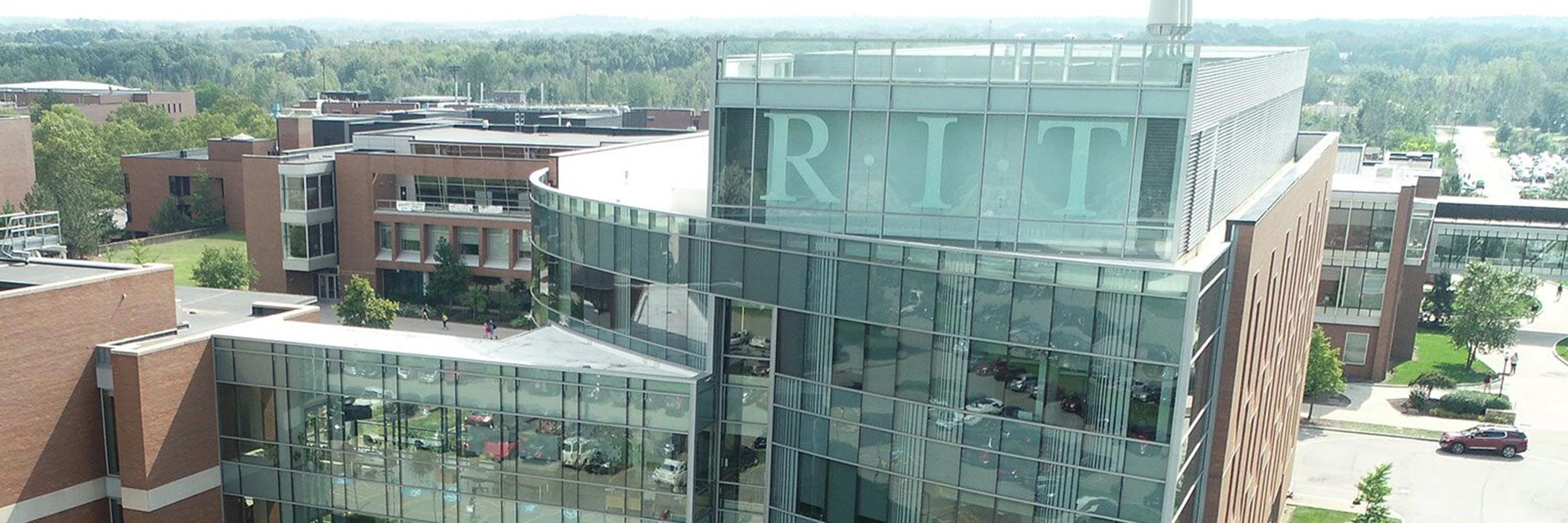 aerial photo of the campus center at RIT