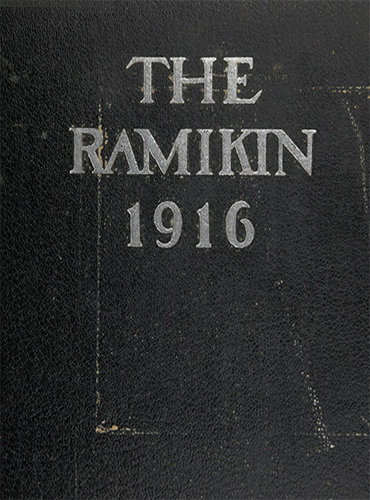 cover design of 1916 yearbook