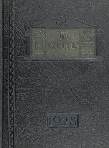 cover design of 1928 yearbook