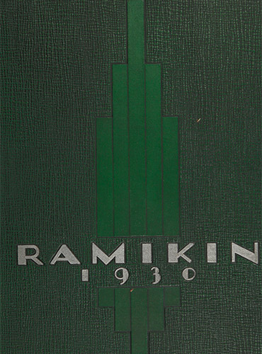 cover design of 1930 yearbook