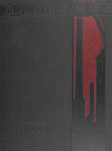 cover design of 1931 yearbook
