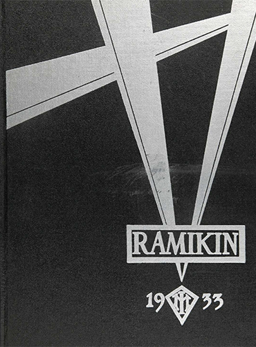 cover design of 1933 yearbook