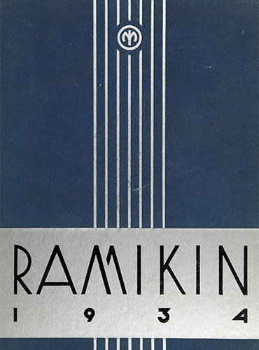 cover design of 1934 yearbook