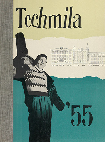 cover design of 1955 yearbook