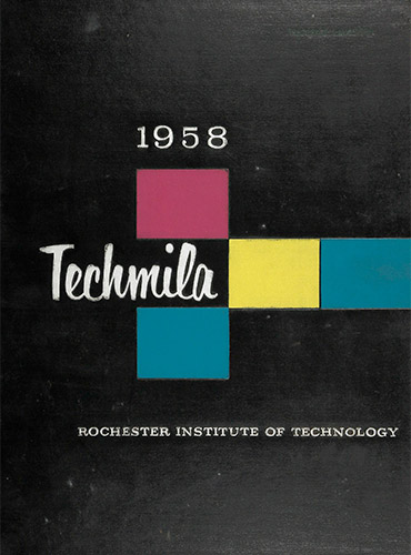 cover design of 1958 yearbook