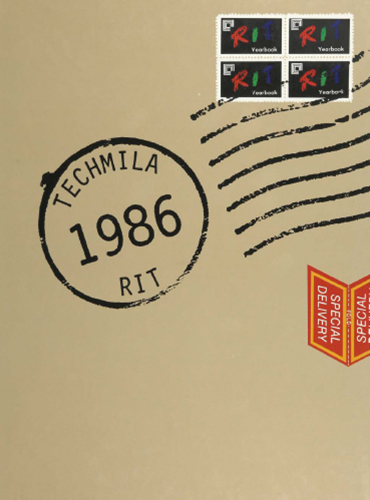 cover design of 1986 yearbook