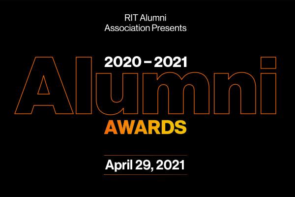 2020-2021 Alumni Awards April 20, 2021 graphic