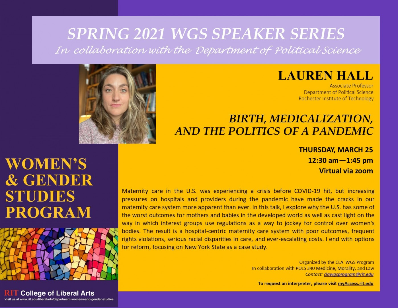 Birth, Medicalization, and politics of a pandemic