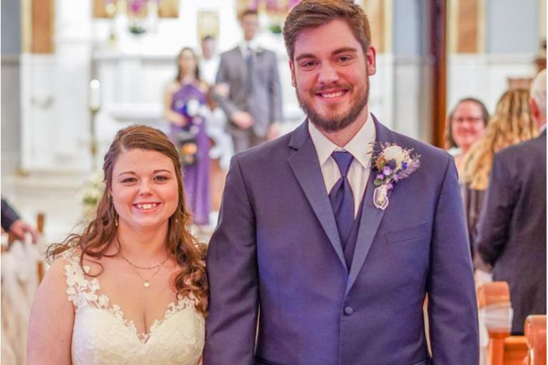 Nick Sprague '18 (COLA) and Jasmine Newton '18 (COLA) wedding photo