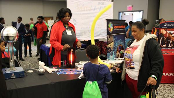 Tiffany Owens at a STEM fair