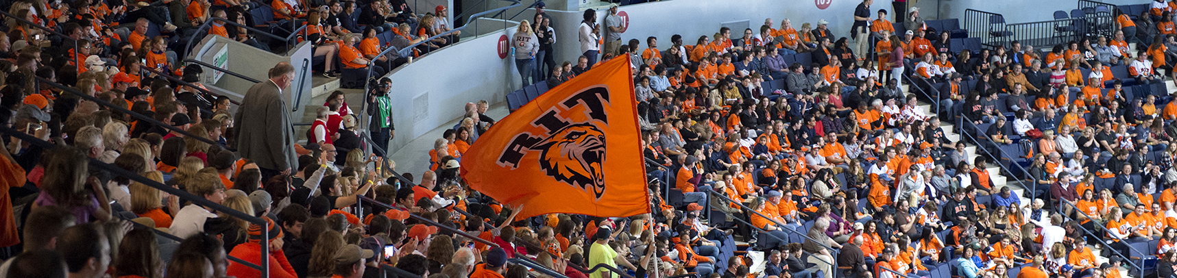 Image of RIT Fans at hockey game.