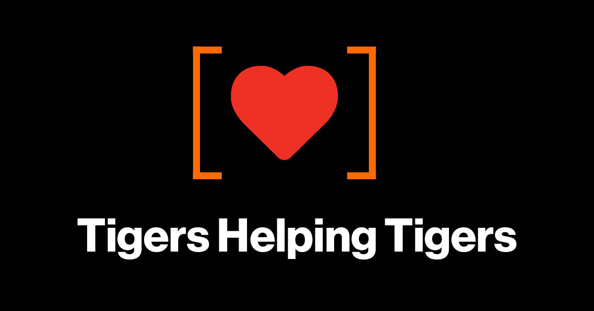 [heart icon] Tigers Helping Tigers