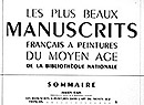 "Fig. 64: Typography example. From: ""Sommaire,"" Les Plus Beaux Manuscrits... 60 (1 November 1937), 3."