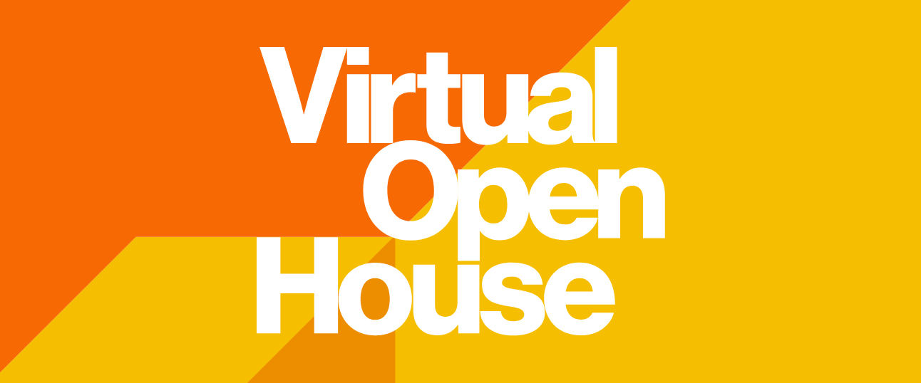 Stylized text for virtual open house