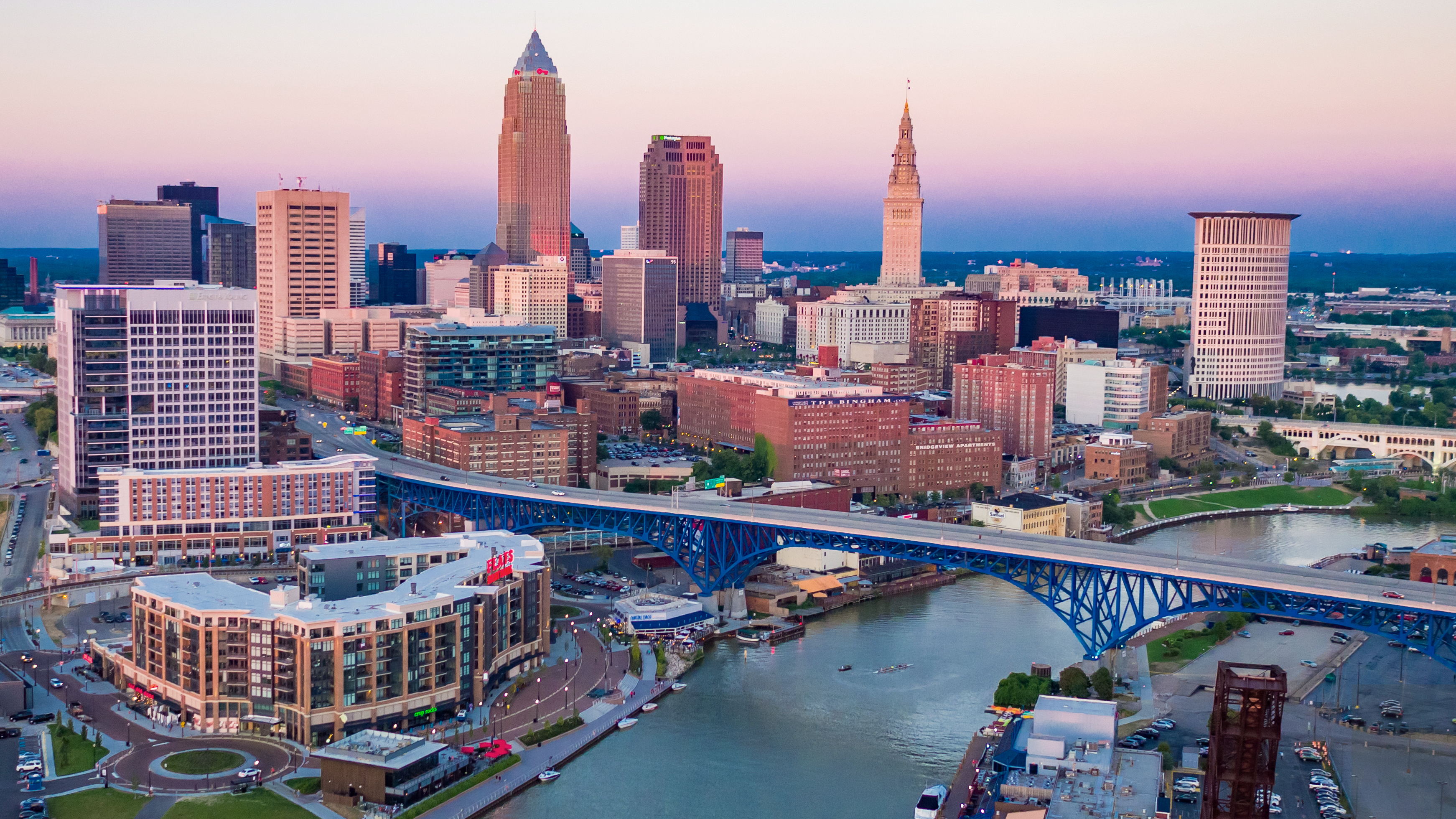 View of the city of Cleveland, Ohio