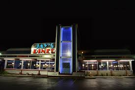 Street View of Jay's Diner at night