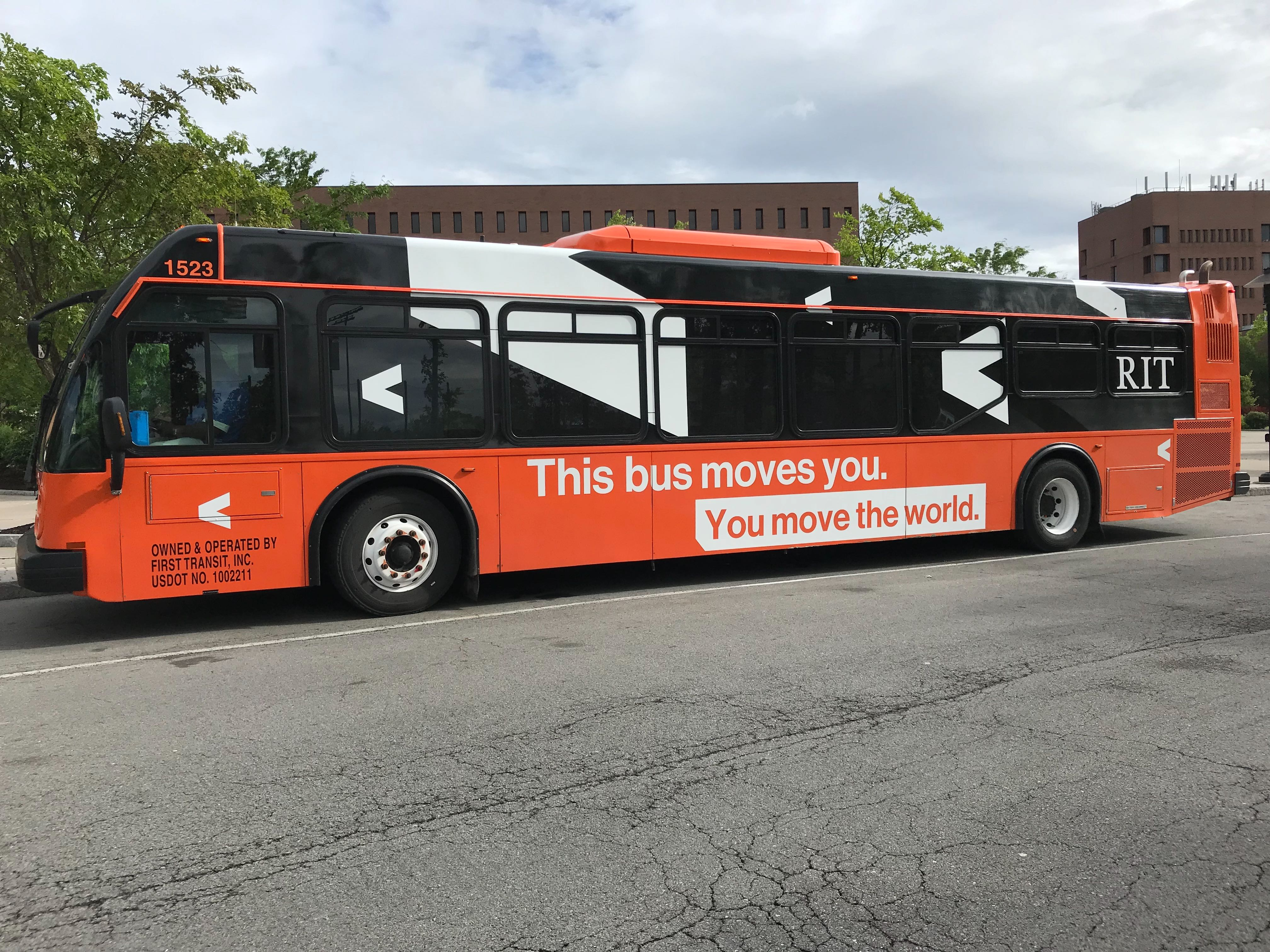 RIT shuttle in Gleason Circle