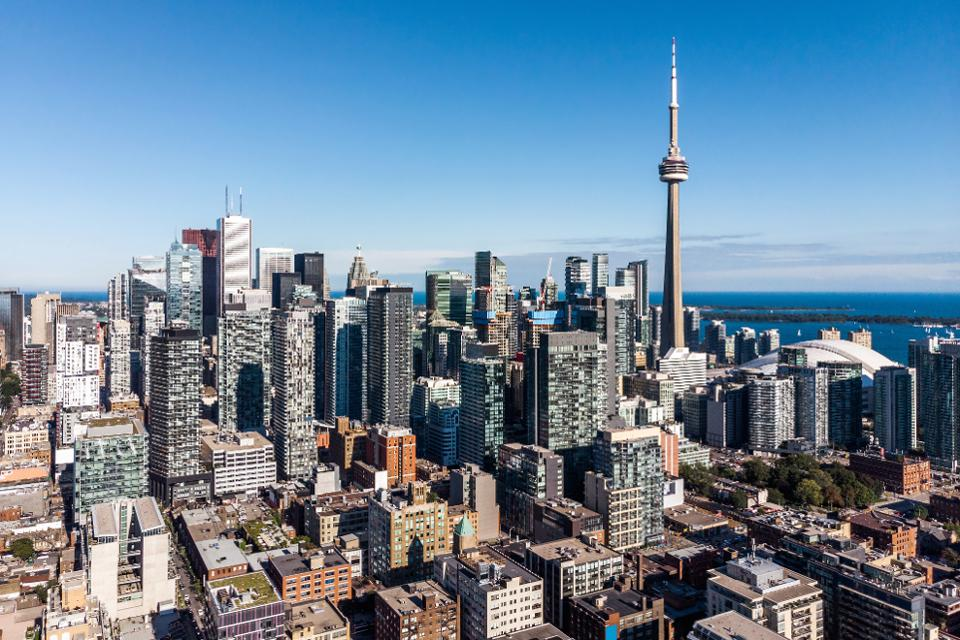 View of the crowded city of Toronto