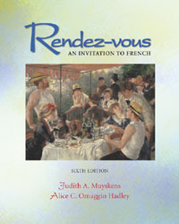 Listening Comprehension Audio CD to accompany Rendez-vous pt. 2