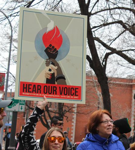First Women's March, Washington Square Park, Rochester, NY, January 21, 2017. Credit: Tamar W. Carroll