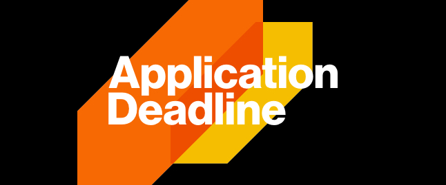 Stylized text of Application Deadline