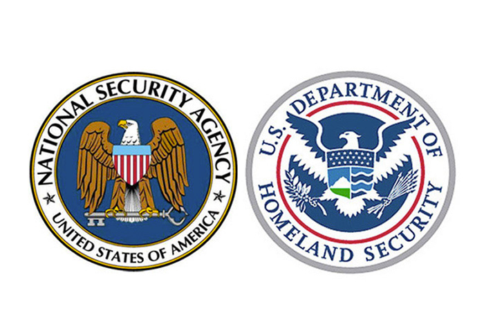 2 logos for NSA and Homeland Security