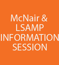 Hear all about our McNair and LSAMP Programs!
