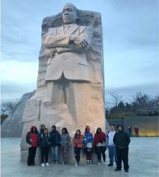 TRiO Upward Bound Students visit Washington, DC