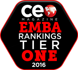 CE Magazine EMBA Rankings Tier One 2016