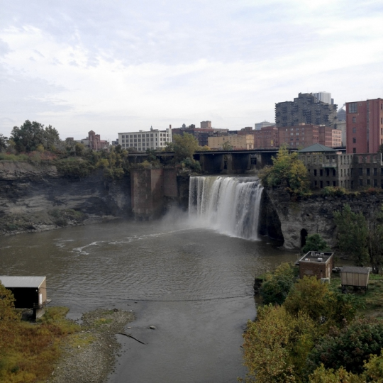 High Falls from the pedestrian bridge