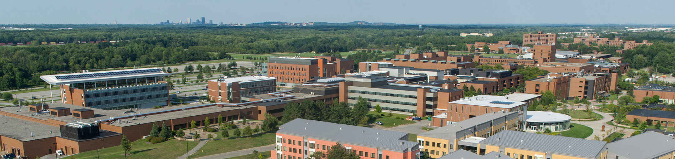 an aerial photo of RIT's campus