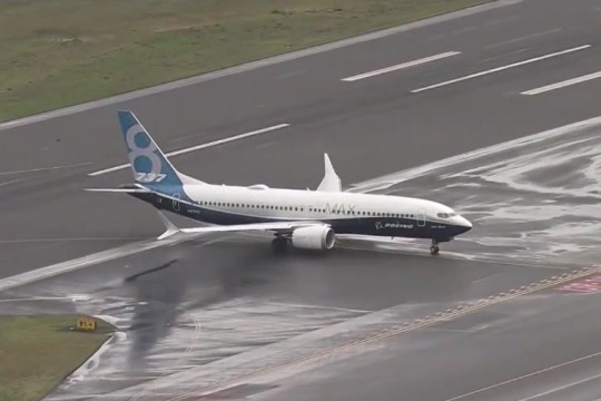 Boeing 737 Max 8 on tarmac