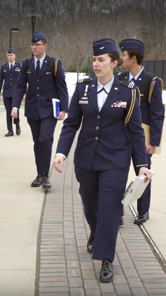 Kimberly Hedger in uniform