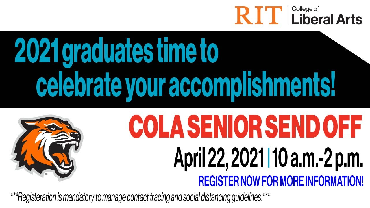 COLA SENIOR SEND OFF, April 22, 2021, 10 a.m.-2 p.m., Registration Required