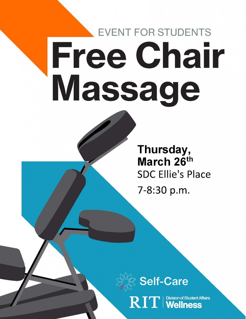 Free chair massage Ellie's place March 26, 2020 7-8:30pm