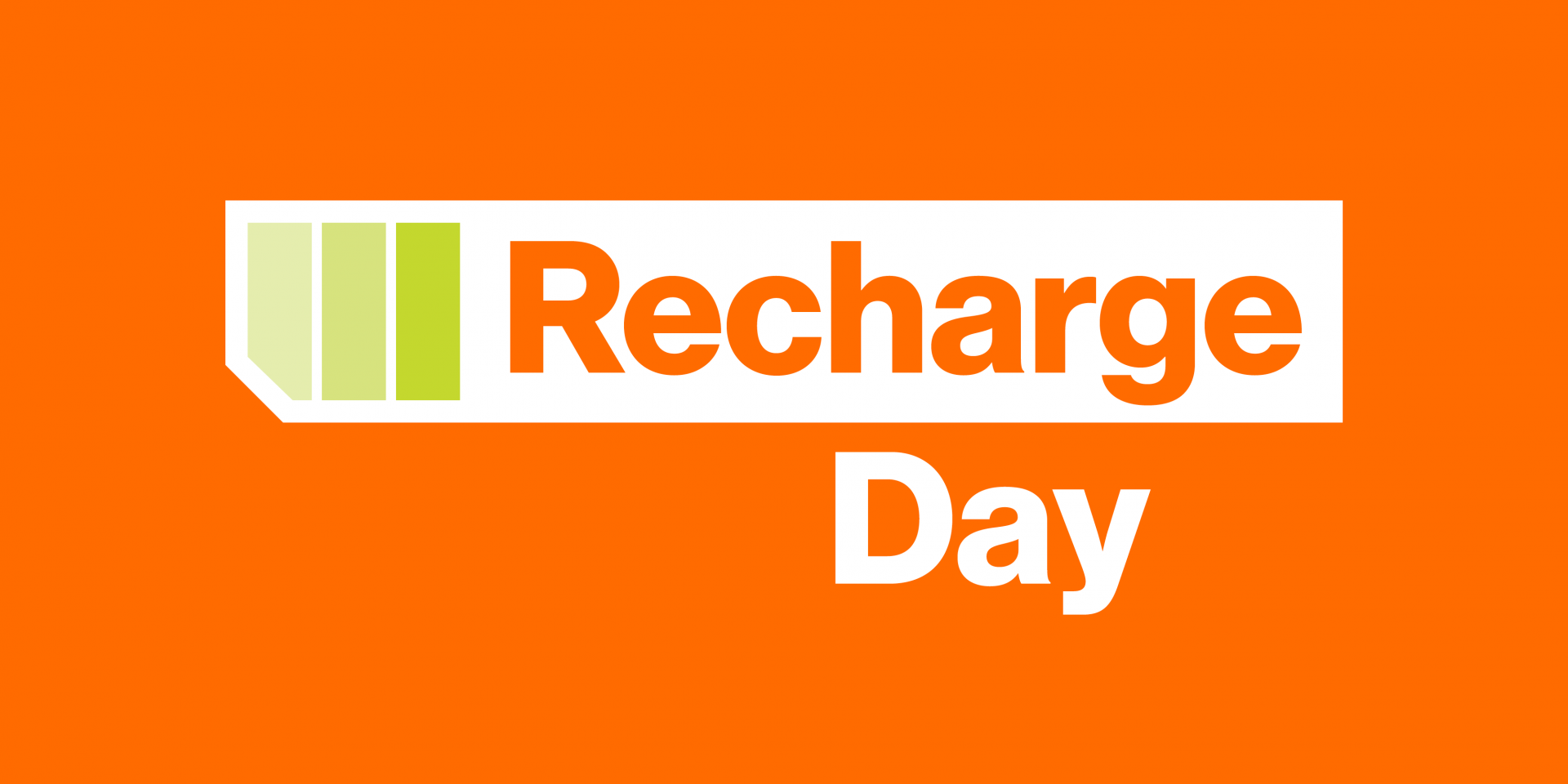 Recharge Day with battery icon