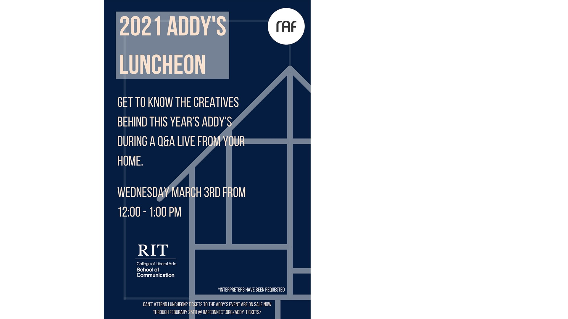 Event Poster for ADDY's Luncheon