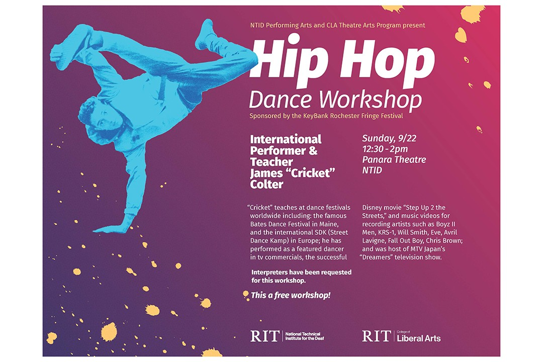 NTID & CLA Theatre Arts present: Hip Hop Dance Workshop (FREE!)